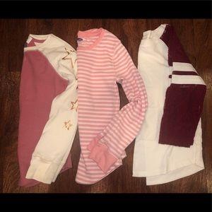 GIRLS 3 pack long sleeve shirts